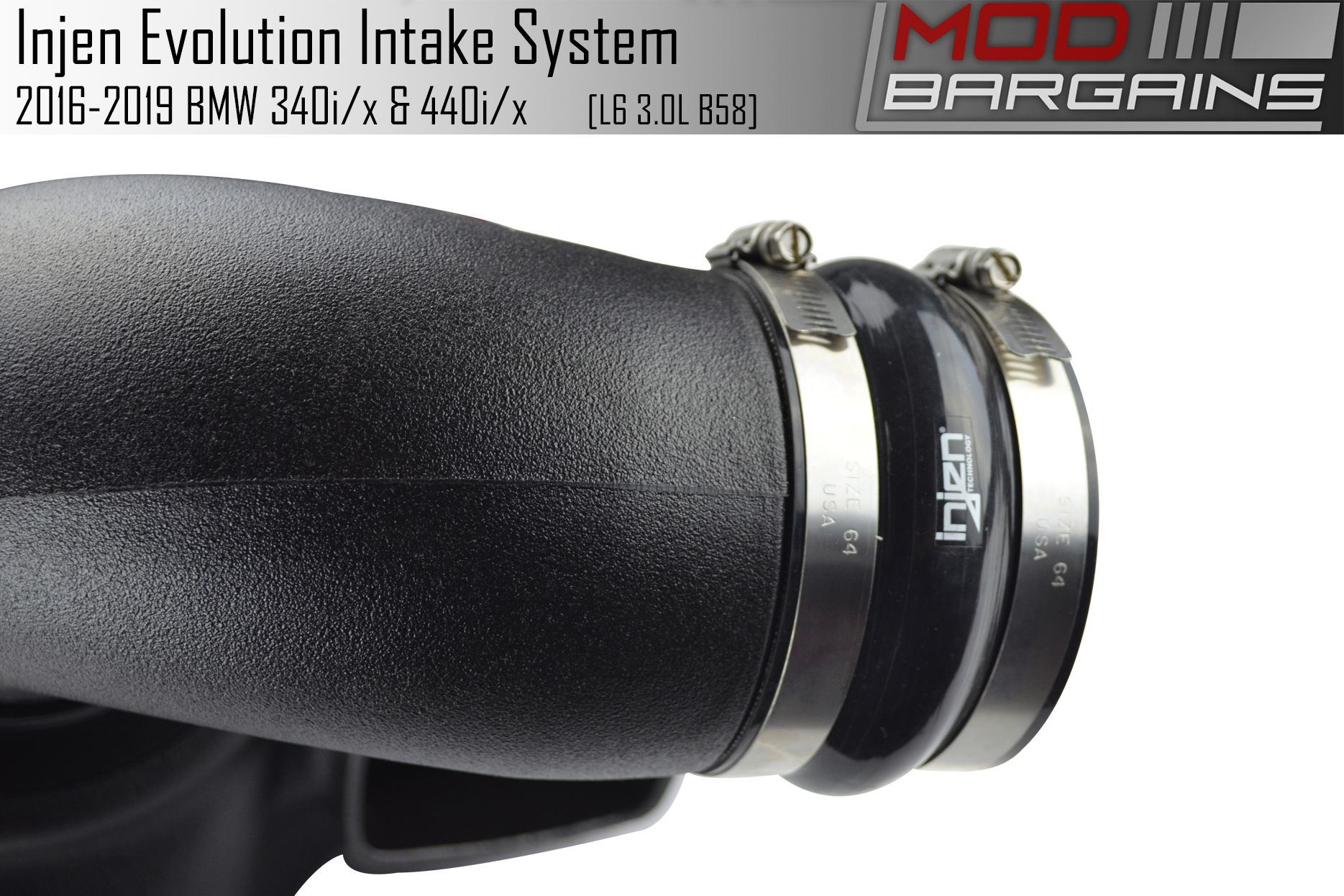 Injen Evolution Cold Air Intake for 2016-2019 BMW M240i, 340i and 440i with B458 3.0T Engine