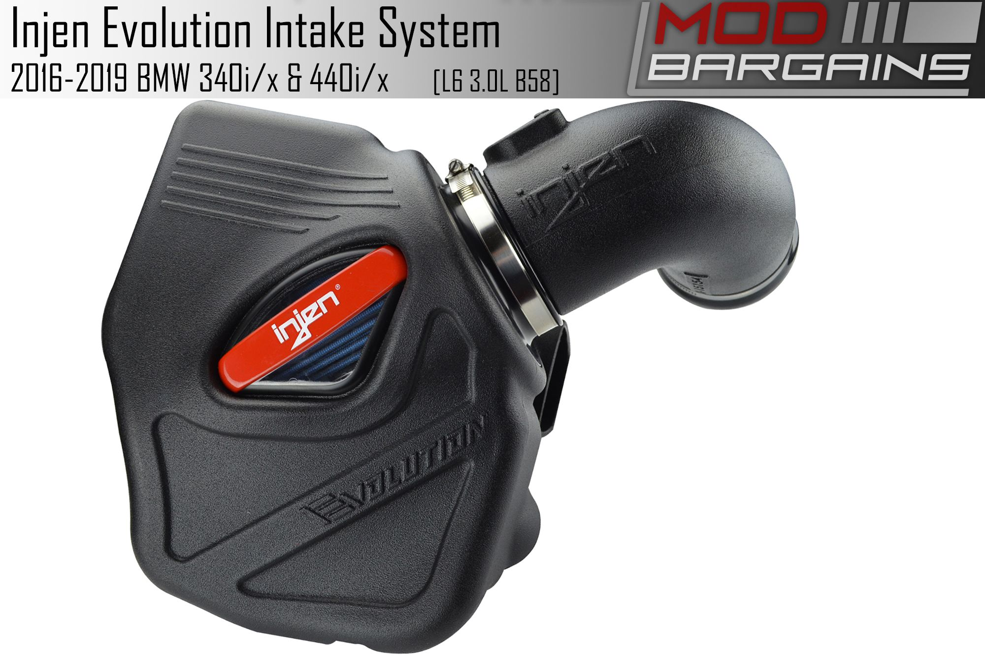 Injen Evolution Cold Air Intake for 2016-2019 BMW 240i, 340i and 440i with B58 3.0T Engine