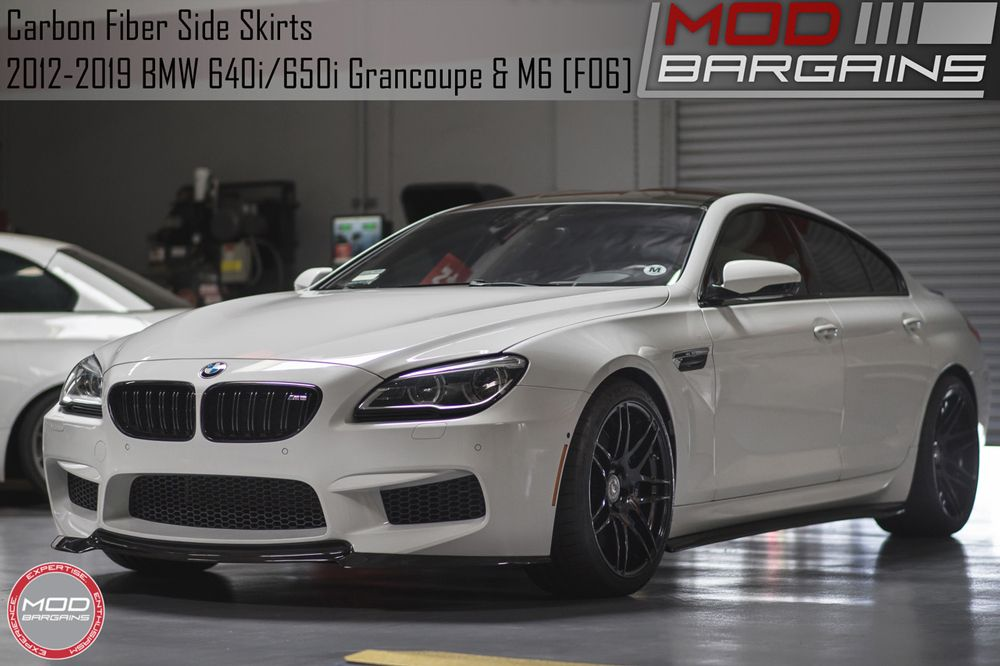 Carbon Fiber Side Skirts for BMW M6 and 6 Series Grancoupe F06 BMSS1203