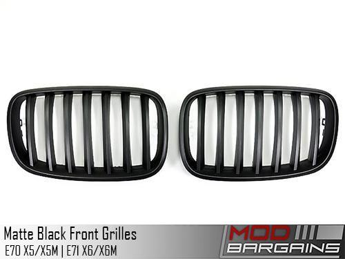 Matte Black Front Grilles (E-Chassis X5/X5M & X6/X6M)