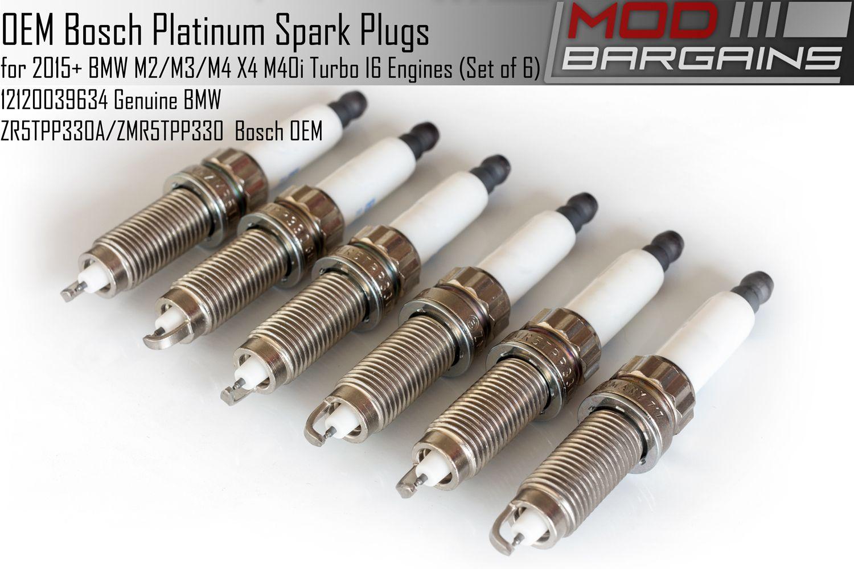 OEM Bosch Platinum Spark Plug Set of 6 for 2015+ BMW M2/M3/M4 Turbo I6