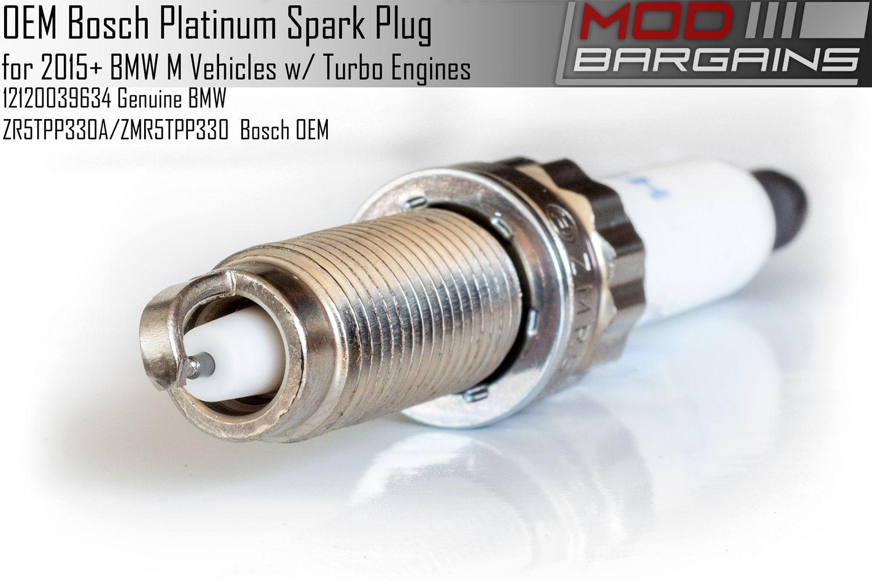 OEM Bosch Platinum Spark Plug for 2015+ BMW M Vehicles 12120039634