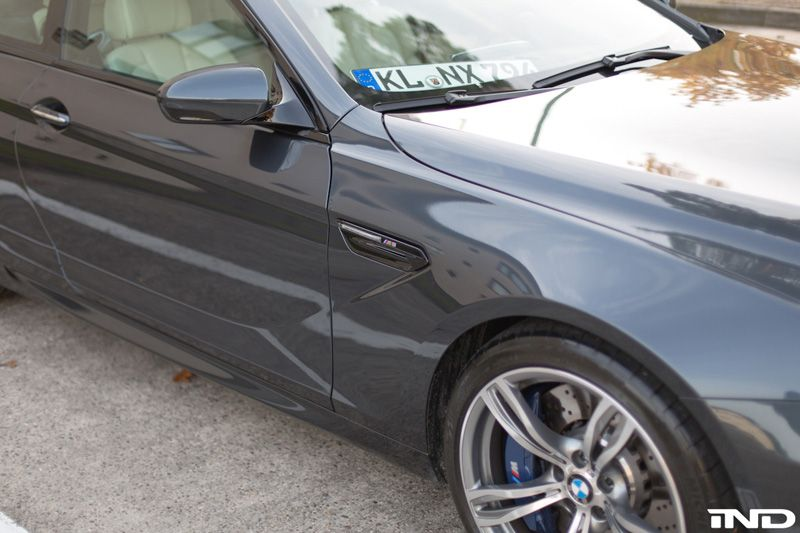 AutoTecknic Carbon Fiber Fender Light Trim Cover Installed on BMW M6 (2)